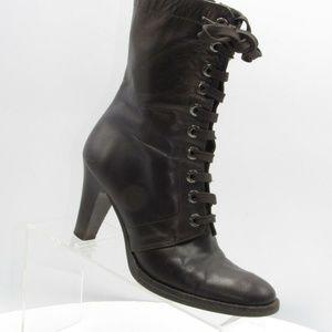 Via Spiga Size 7 M Brown Lace Up Boots B7 C1